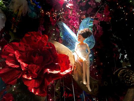 Kuala Lumpur, MALAYSIA – December 14, 2018: The wonderful Fairy Doll themed Christmas decoration in Gardens Mall.