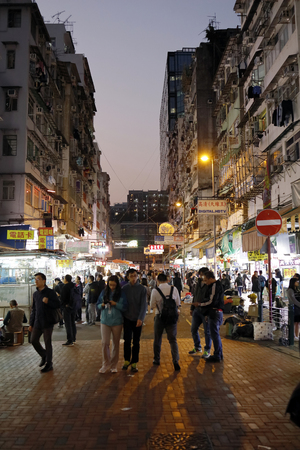 KOWLOON, HONG KONG – March 12, 2019- Apliu Street Flea Market, Bargain hunters location for new and second-hand electronic devices, audio-visual equipment and telecommunications products Editorial