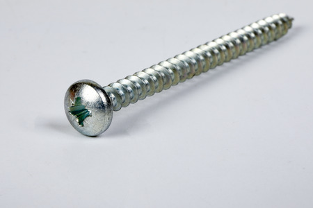 Metal screw plug on white background Banco de Imagens