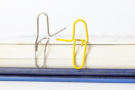 Paper clip concept people sit love friend