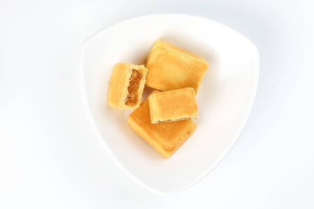 Chinese Taiwanese style cake stuffed with pineapple feeling