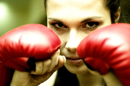 avenger: Girl boxer is ready to attack.