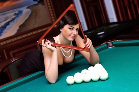 Billiards player Stock Photo
