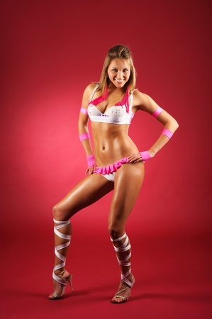 beautiful and stylish dancer is posing Stock Photo