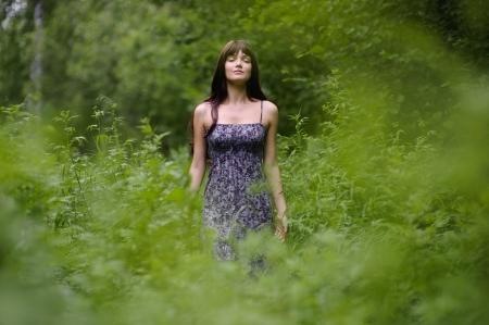 Portret van het mooie bos dryade. Stockfoto