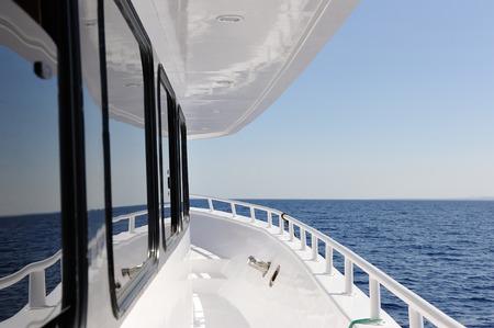 Yacht elements. The deck.