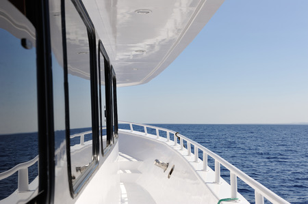 the yacht: Yacht elements. The deck.