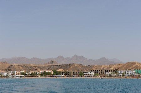 sinay: View on red sea bay in Sharm-el-Sheikh. South Sinay. 02 july 2014
