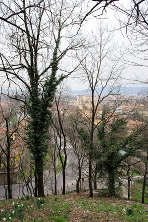 BRESCIA, ITALY - MARCH 21, 2015: View from the Castle to the city Editorial
