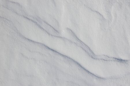 crust: Thin crust of ice over snow Stock Photo