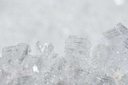 Macrophotography. Close-up of ice crystals.