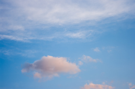 Blue sky with Cloud, fluffy clouds in the blue sky