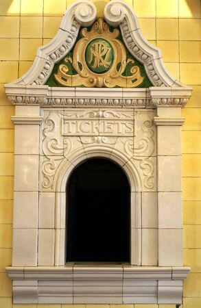Vintage ticket counter