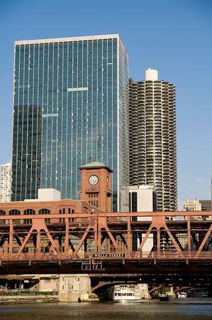 Double decker bridge in Chicago