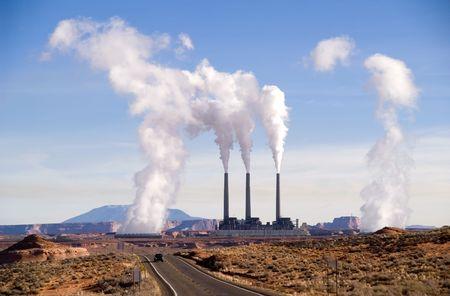 Power plant near Page, Arizona, USA Stock Photo