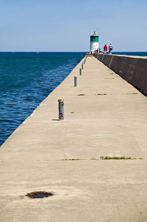 Waukegan Harbor Light, Lake Michigan, Illinois