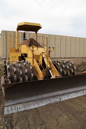 Compactor, Earth mover, Construction Equipment photo