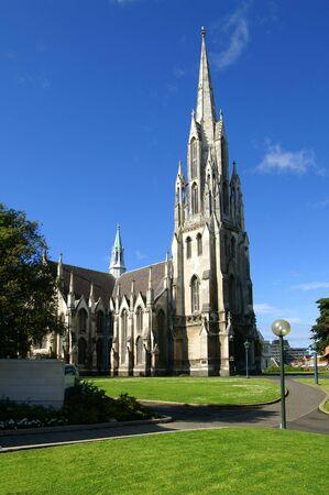 neogothic: Neo-Gothic Style Church in Dunedin, New Zealand