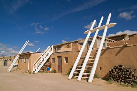 kiva: White Kiva  Ladders in Pueblo