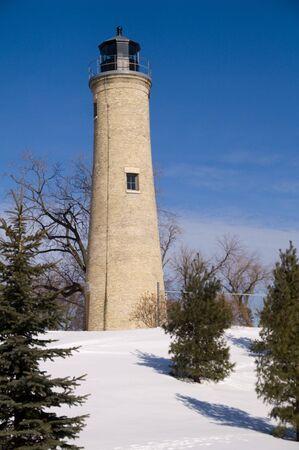 lake michigan lighthouse: Estaci�n de luz Southport de Kenosha, Kenosha, Wisconsin, EE.UU.