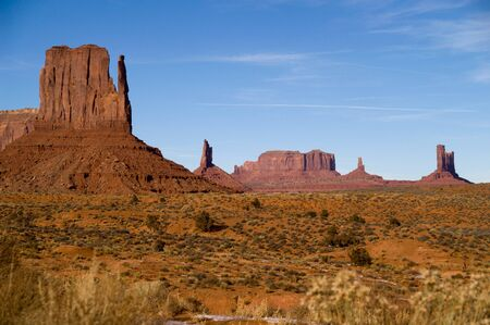 Winter at West Mitten Butte in Monument Valley, Navajo Tribal Park, Utah, Arizona, USA photo