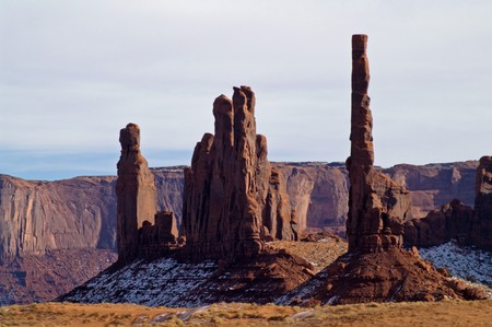 Totem Pole Rock Formation in Monument Valley
