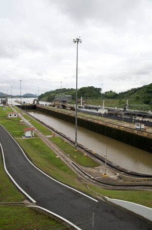 miraflores: Miraflores Locks, Panama Canal Stock Photo