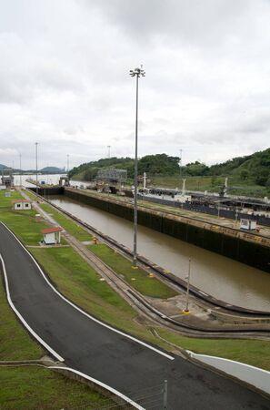 miraflores: Miraflores Locks, Panama Canal Stock Photo