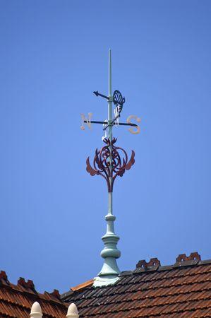 Weather vane on top of Dunedin Railway Station, New Zealand photo