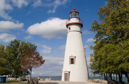Marblehead Lighthouse, Lake Erie, Ohio, USA photo