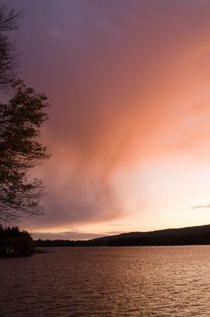greenwood: Greenwood Lake after sunset, Hewitt, New Jersey, USA