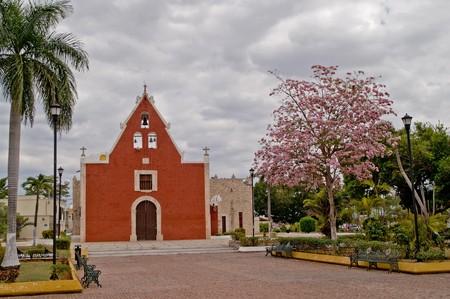 Iglesia de Itzimn�, M�rida, Yucat�n, Mexico Stock Photo