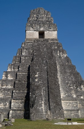 Great Jaguar Temple (emple I) Pre-Columbian Maya Site at Tikal National Park, Guatemala, a UNESCO World Heritage Site