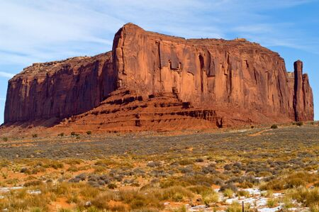 Butte in Monument Valley Navajo Tribal Park, Utah  Arizona, USA photo