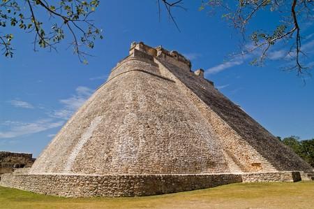 Pyramid of the Magician, Uxmal, Yucatan, Mexico