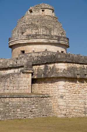 El Caracol - The Observatory in Chichen Itza Stock Photo