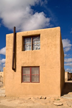 adobe pueblo: Generic Adobe building in Sky City - Indian Pueblo, Acoma Stock Photo