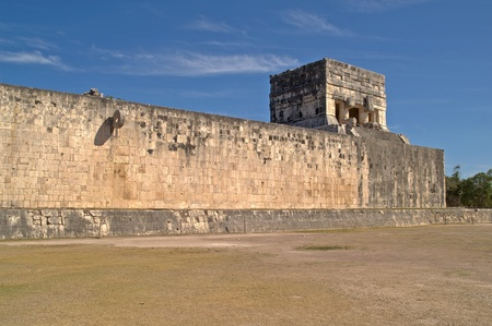 Great Ball Court and Temple of the Jaguars.