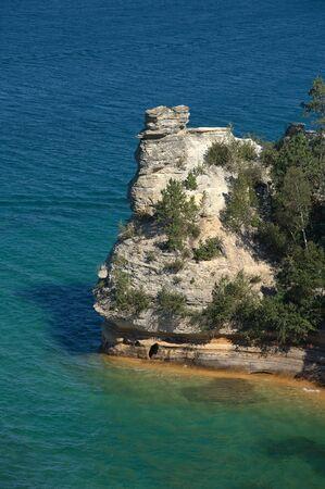 miners: Miners Castle; Pictured Rocks National Lakeshore; Upper Peninsula, Lake Superior, Munising, Michigan, USA