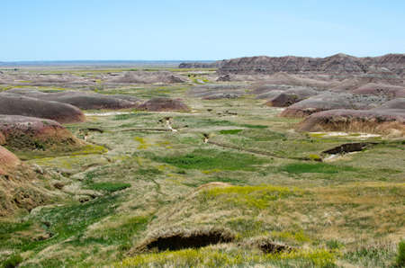 dillon: Unusual mix of colors in Badlands National Park, South Dakota, USA Stock Photo