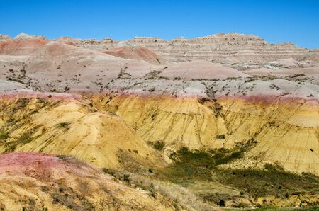 The Yellow Mound area near Dillon Pass, Badlands National Park, South Dakota, USA Stock Photo - 16025887