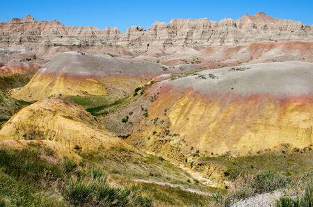dillon: The Yellow Mound area near Dillon Pass, Badlands National Park, South Dakota, USA