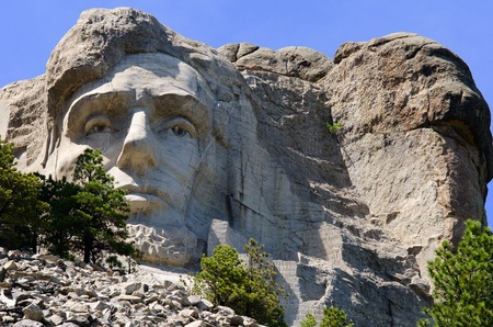 President Abraham Lincoln at Mount Rushmore National Memorial in the Black Hills near Keystone, South Dakota, USA Stock Photo - 16247998