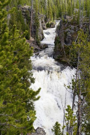kepler: Kepler Cascades on the Firehole River in Yellowstone National Park, Wyoming, USA