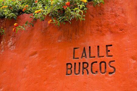 catalina: Calle Burgos Burgos Street, nel Monastero di Santa Catalina, Arequipa, Per�