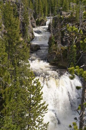 kepler: Kepler Cascades of the Firehole River in Yellowstone National Park, Wyoming, USA Stock Photo