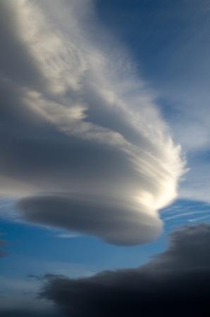 プエルト ・ ナタレス、パタゴニア、チリ上空の驚くべき 写真素材