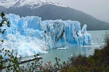 moreno glacier: The narrow passage between the Perito Moreno Glacier and the Magellan Peninsula gets blocked every 4-5 years  Loas Glaciares National Park, Patagonia, Argentina