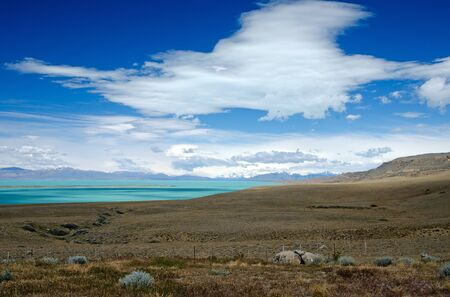 those: The north-east end of Lago Argentino, Patagonia, Argentina  And yes - those colors are real