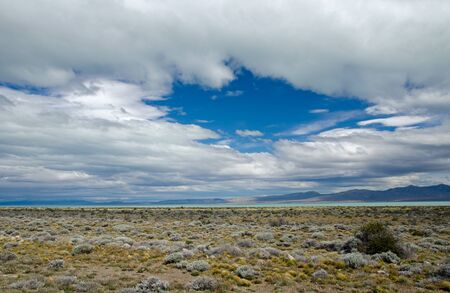 Barren landscape at the northern shores of Lago Argentina in southern Patagonia, Argentina